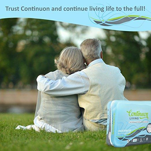 Adult Incontinence Underwear Maximum Absorbency Disposable Pull Up Diapers for Women & Men, 10 Count - Continuon Living