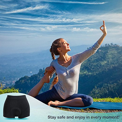 Incontinence Underwear Womens Active Brief (Black) with Super-absorbent (14 Oz) Bamboo Charcoal Pad - Continuon Living