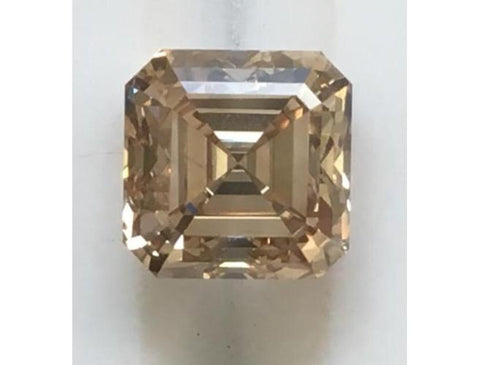 Asscher, 2.01 Carat, C3 VS2. Natural Argyle Champagne Diamond