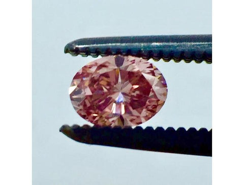 Natural Loose Argyle Oval, 0.27 Carat, Fancy Intense Pink, SI1 Diamond. Color-Diamonds.net