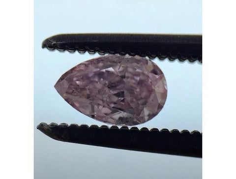 Pear, 0.27 Carat, Fancy Intense Purplish Pink, SI2. Natural Loose Argyle Pink Diamond.