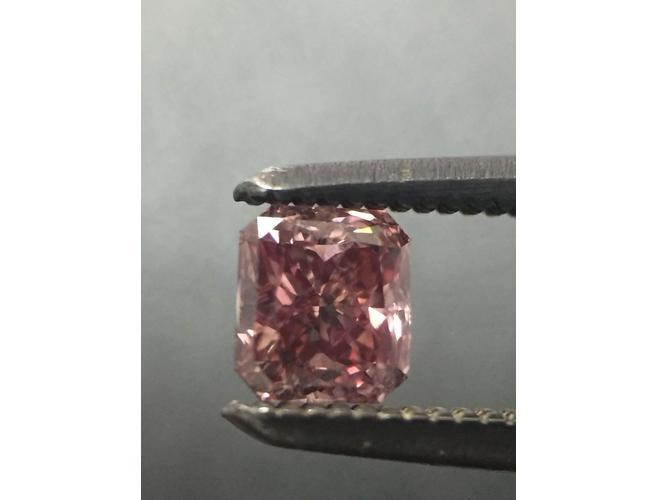 Radant, 0.34 Carat,Fancy Deep Pink, VS2. Natural Argyle Pink Diamond