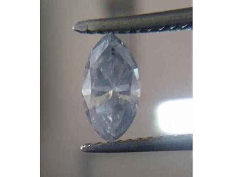 Marquise, 0.71 Carat, Fancy Gray Blue, I2. Natural Loose Colored Diamond. DahanCollection.Com