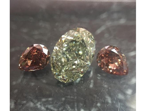 Oval, 1.53 Carat, Fancy Grayish Yellowish Green, VS2. Loose Color Diamond