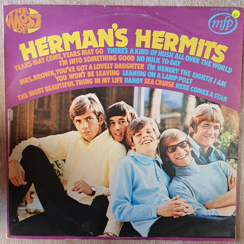 Herman's Hermits ‎– The Most Of Herman's Hermits -  Vinyl LP Record - Very-Good+ Quality (VG+)