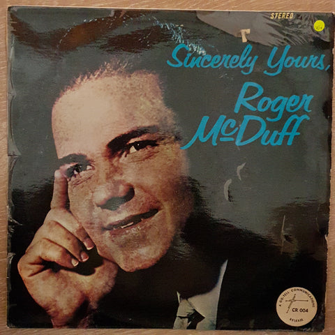 Roger McDuff ‎– Sincerely Yours - Vinyl LP Record - Very-Good+ Quality (VG+)