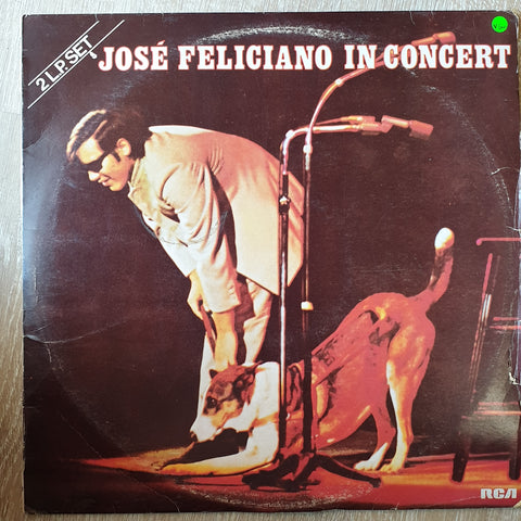 José Feliciano ‎– José Feliciano In Concert - Double Vinyl LP Record - Very-Good+ Quality (VG+)