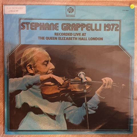 Stéphane Grappelli ‎– Stéphane Grappelli 1972 (Recorded Live At The Queen Elizabeth Hall London) -  Vinyl Record - Very-Good+ Quality (VG+)