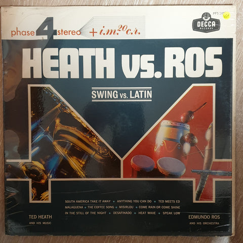 Ted Heath Vs. Edmundo Ros ‎– Swing Vs. Latin -  Vinyl LP - Opened  - Very-Good+ Quality (VG+)
