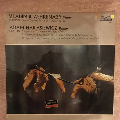 Chopin / Vladimir Ashkenazy / Adam Harasiewicz ‎– Piano Concerto No. 2 - Vinyl LP Record - Opened  - Very-Good Quality (VG)