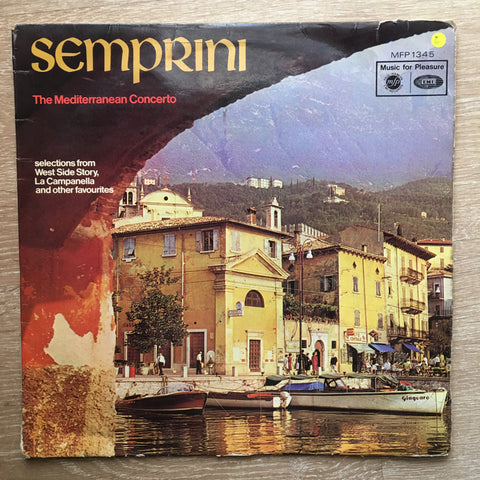 Semprini ‎– The Mediterranean Concerto -  Vinyl LP Record - Opened  - Good Quality (G)