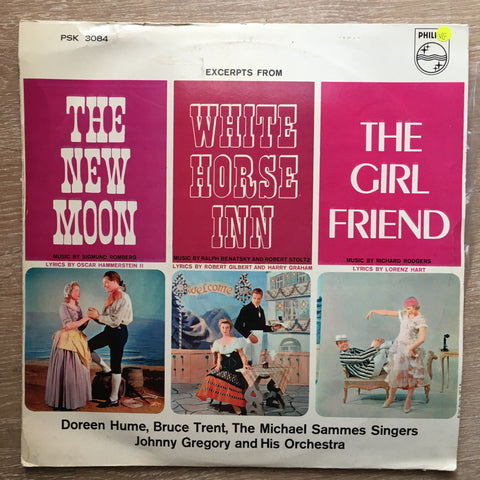 Johnny Greogory and His Orchestra ‎ (J) - Excerpts - The New Moon/ White Horse Inn/The Girlfriend - Doreen Hume, Bruce Trent, Michael Sammes Singers - Vinyl LP Record - Opened  - Very-Good Quality (VG)