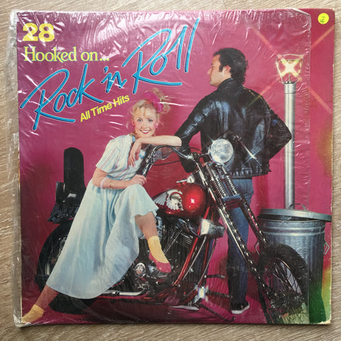 Hooked On Rock & Roll 28 All Time Hits  - Vinyl LP Record - Opened  - Very-Good- Quality (VG-)