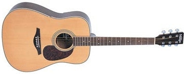 Vintage V400N - Western Acoustic Guitar Solid Spruce Natural (Dreadnaught) - CPlan Audio