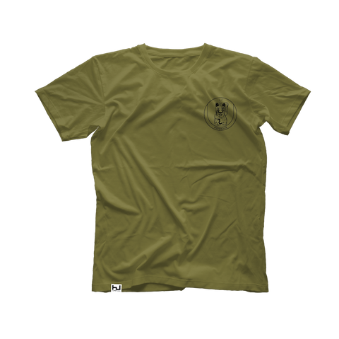 Hyperdub Army Shirt, Black Third Ear Cat Logo