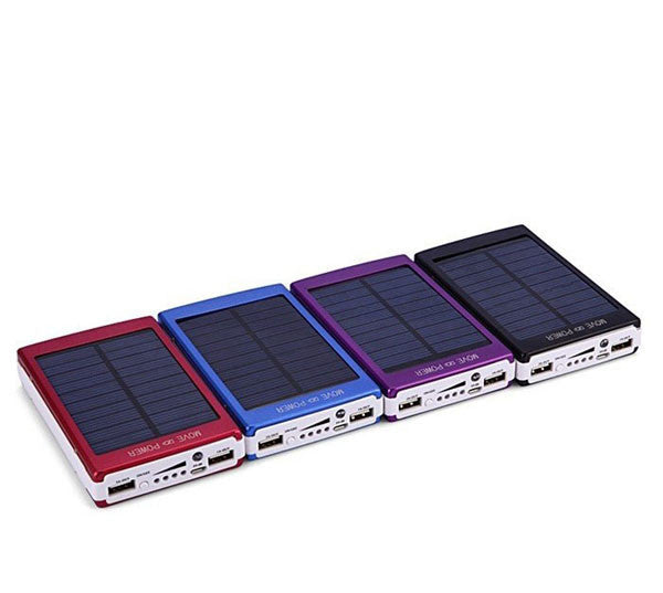 30000mAH Solar Charger 2 Port External Battery Pack Power Bank For Cellphone iPhone 4 4s 5 5S 5C iPad iPod Samsung Portable
