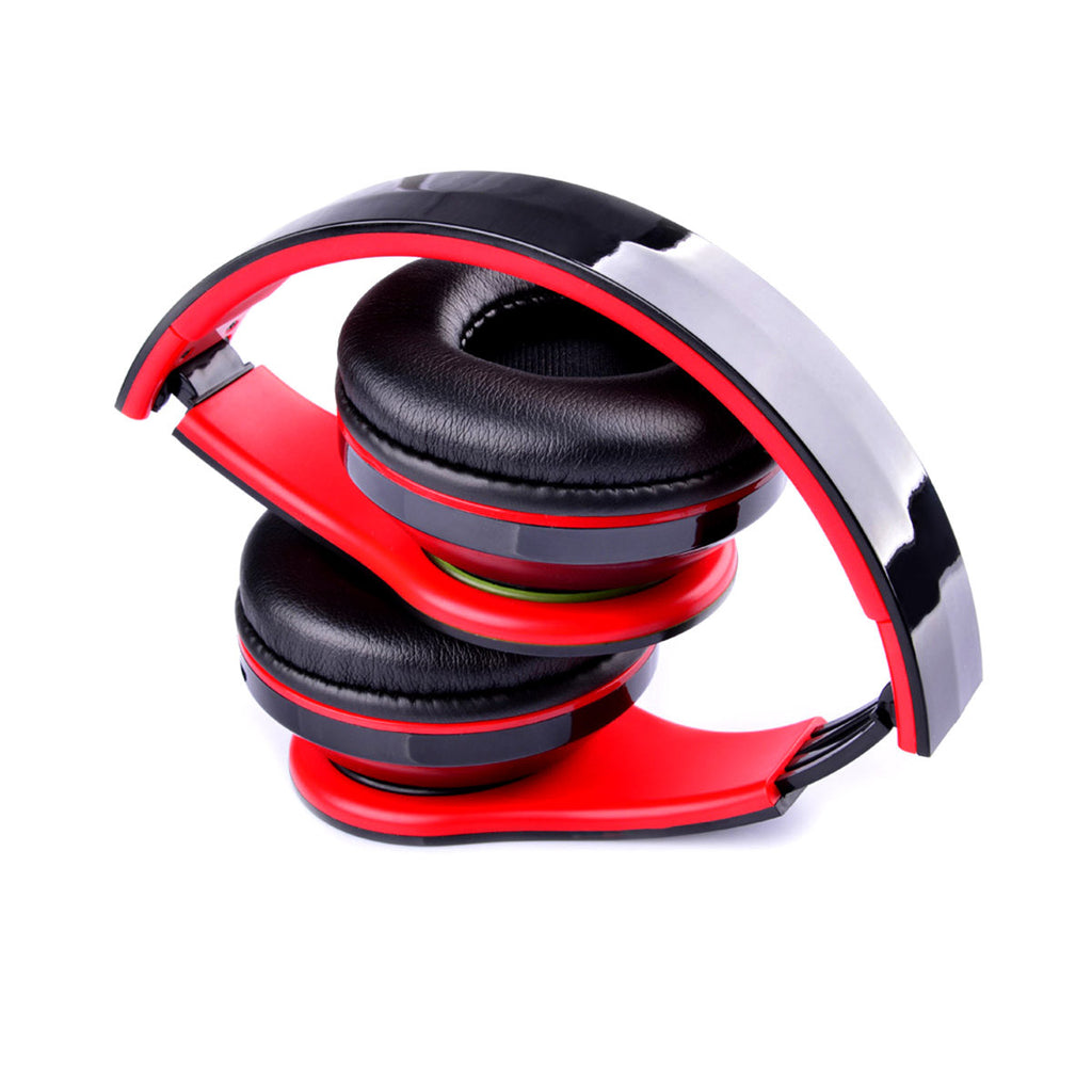 COOL Foldable Wireless Bluetooth Stereo Headphone Headset Mic FM TF Slot for iPhone iPad Smartphone
