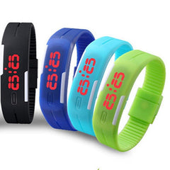 New Fashion Sport LED Watch Candy Color Silicone Rubber Touch Screen Digital Watches Waterproof Wristwatch Dress Bracelet