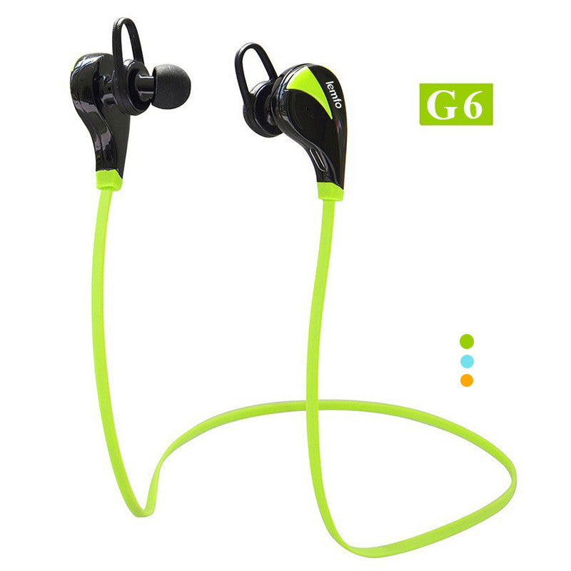 Original G6 Bluetooth 4.0 Headset Wireless Stereo Sports Earphone Studio Music Handsfree Headphone Sweatproof for iPhone Samsung