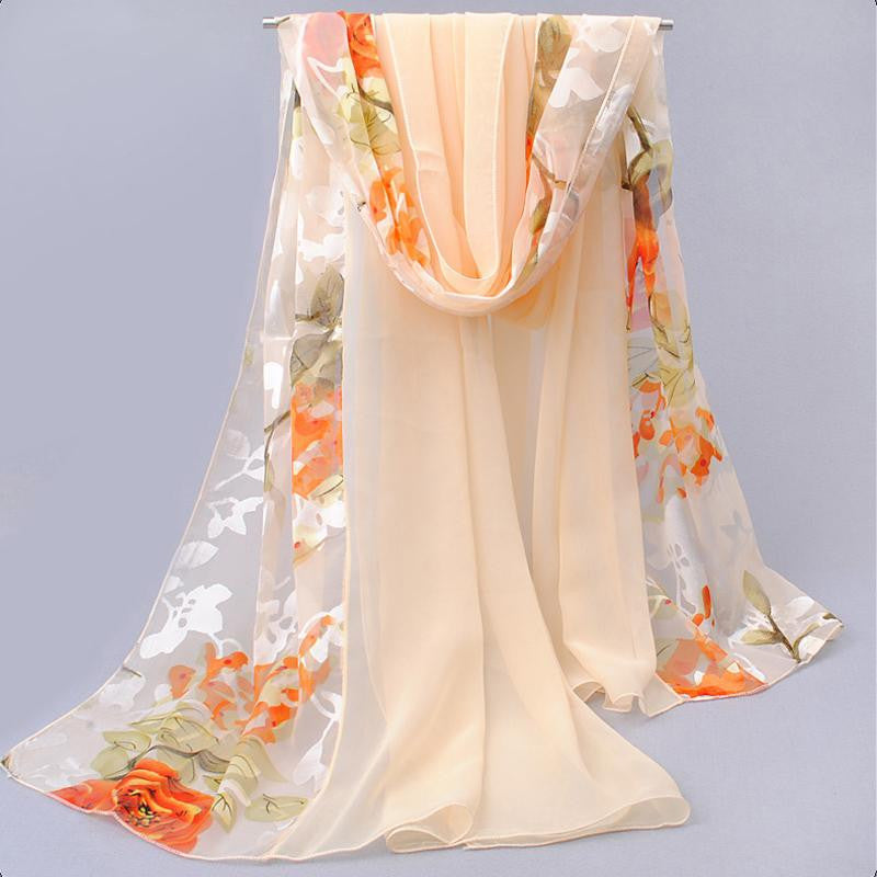 shawls and scarves dots hot women fashion style spring autumn gentlewomen silk burnt out raw women's scarves multicolor
