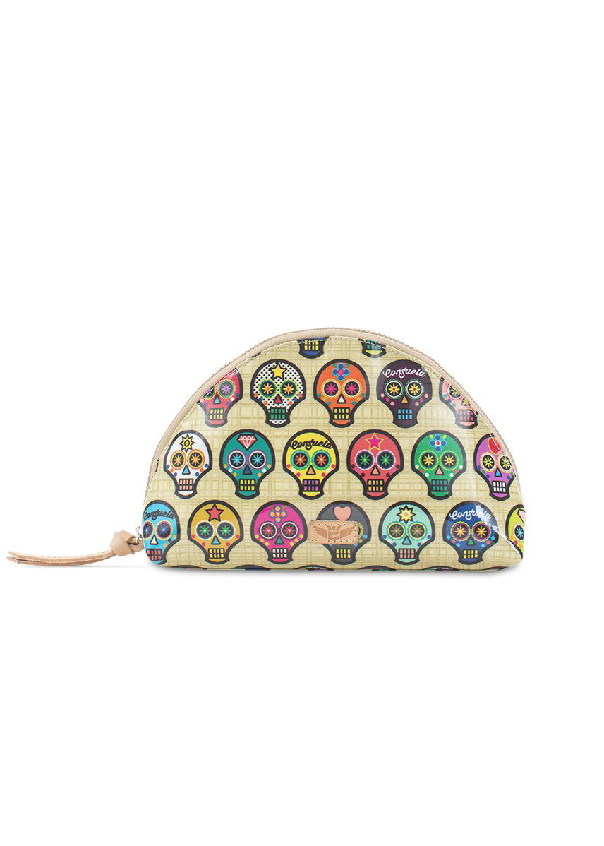 Large Cosmetic Bag- Sugar Skulls By Consuela