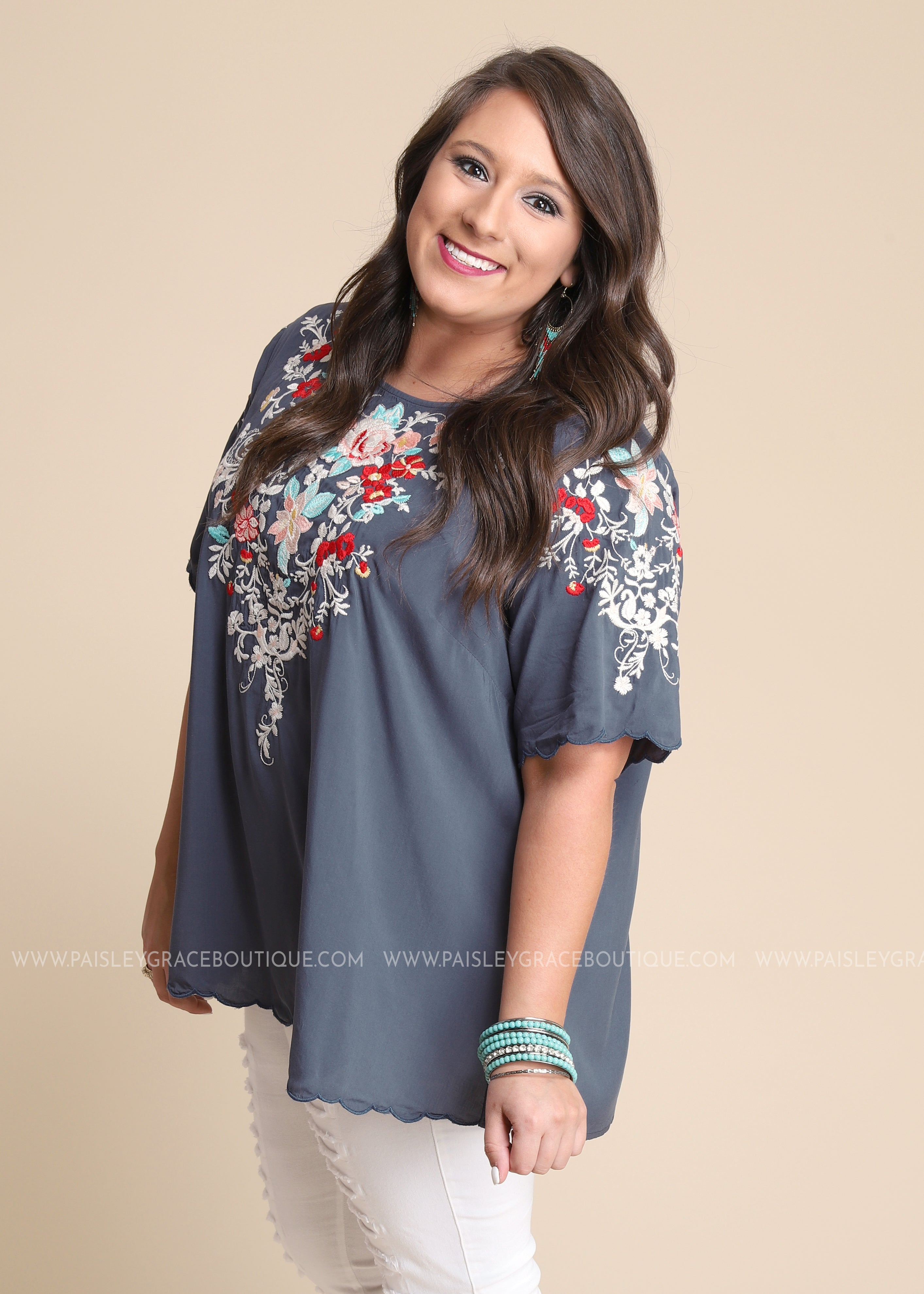 Florencia Embroidered Top-RESTOCK