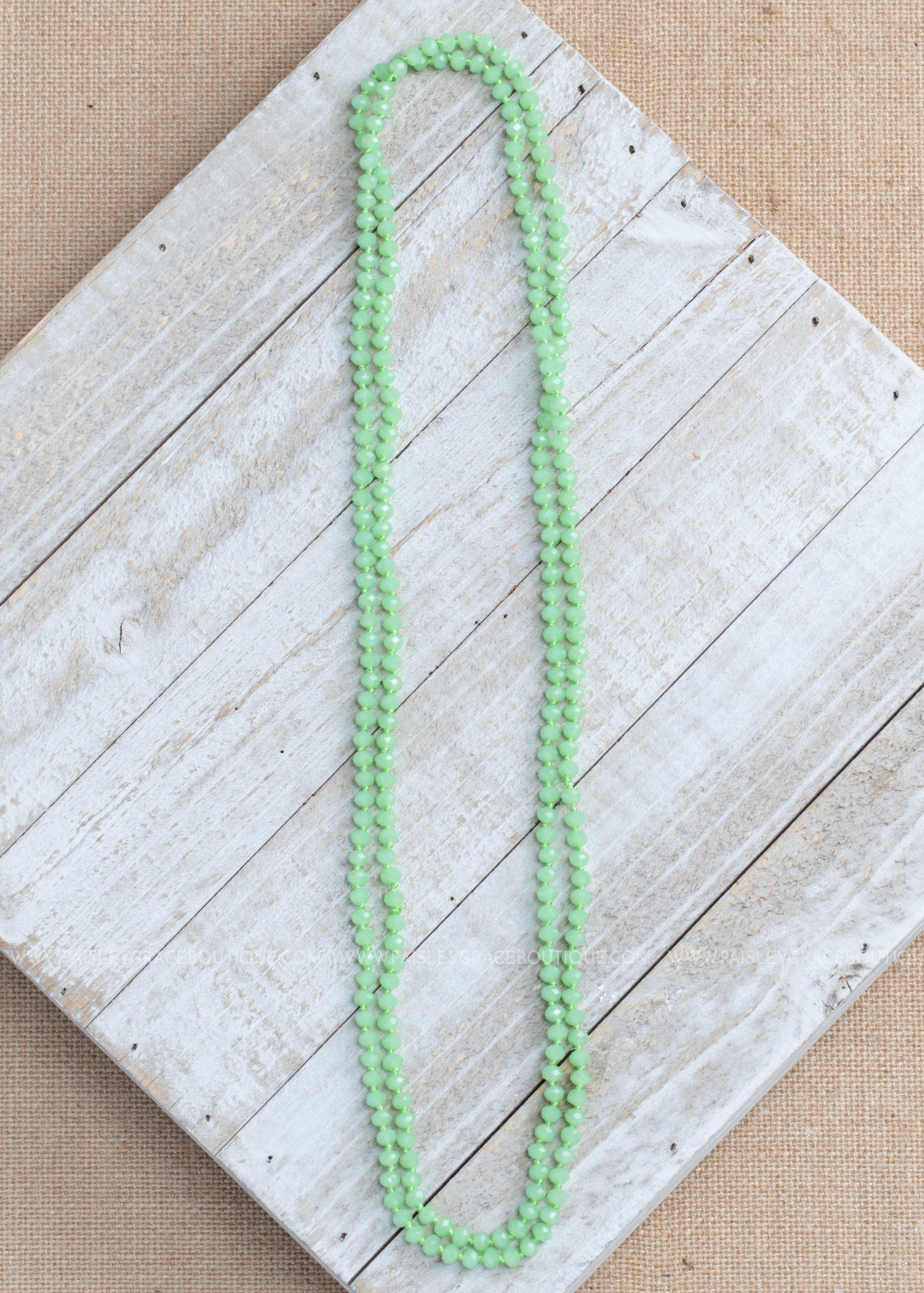 Green Shimmer Strand Necklace