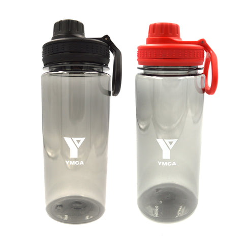 YMCA Clear Water Bottle with Handle - Pack of 20