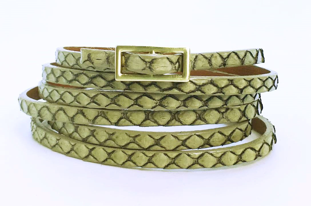 Six Wrap Bracelet - Antique Python