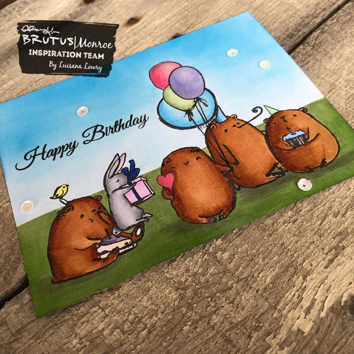 Birthday Bears - 4x6 Stamp