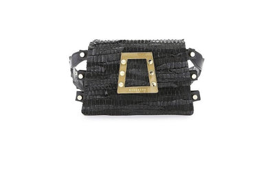 Leather Belt Bag - Ersilia Black