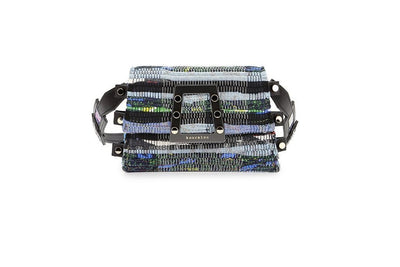 Fabric & Leather Belt Bag - Ersilia Multi / Black