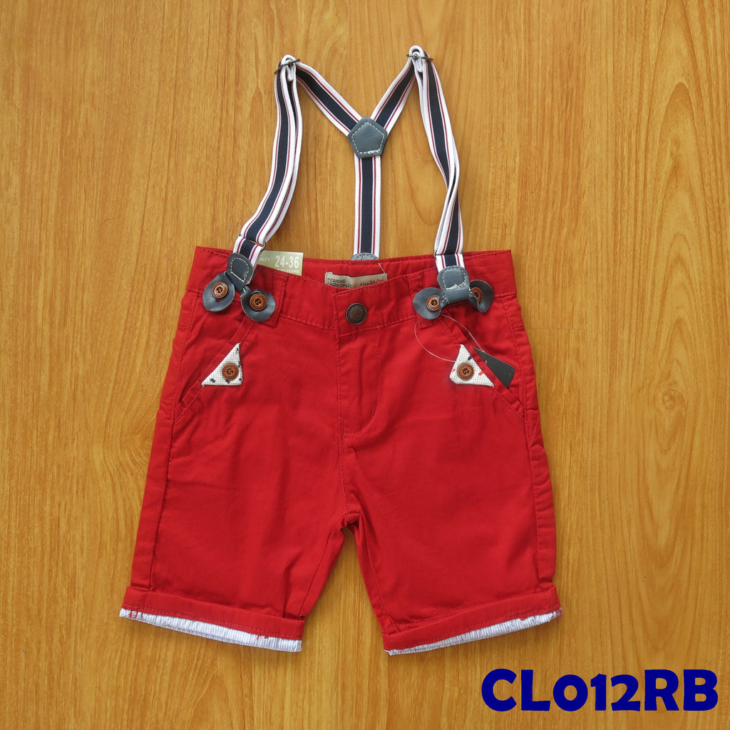 (CL012RB) Pants - Red