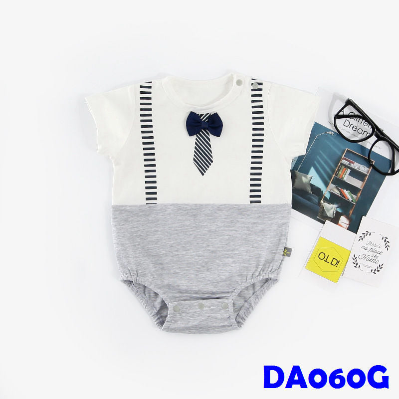 (DA060G) Rompers - Gentleman Grey