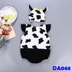 (DA068) Baby Rompers - Cow