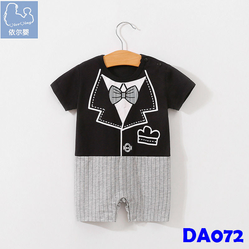 (DA072) Boy Rompers - Black