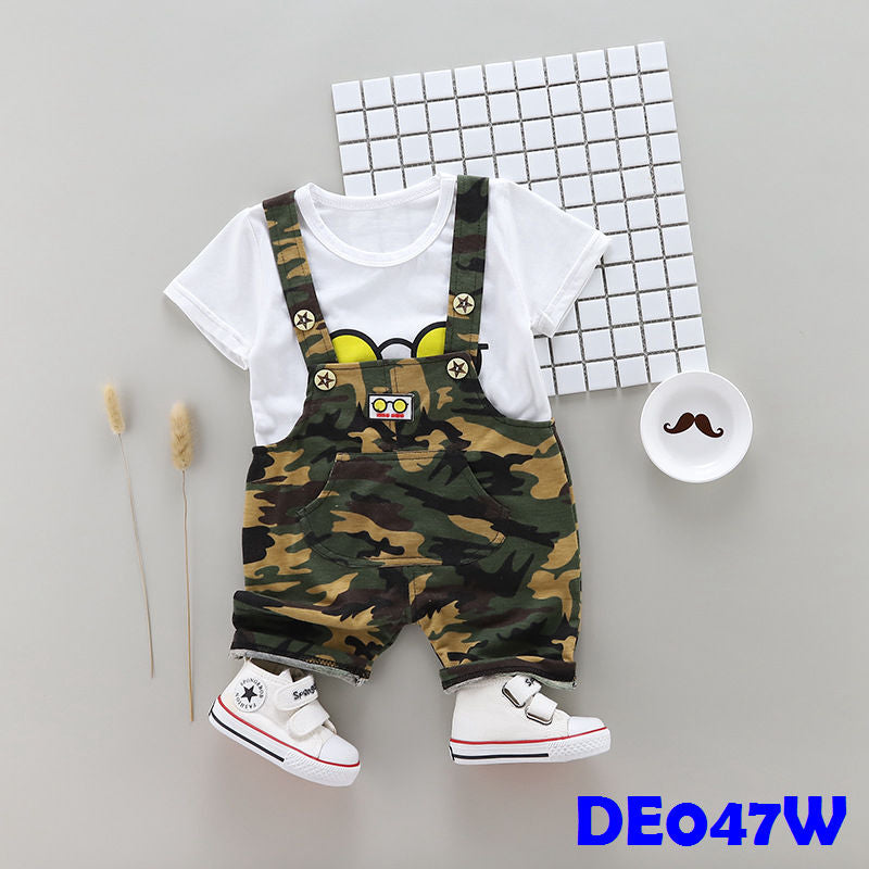 (DE047W) Boy set - White
