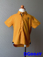 (DG004Y) Boy Shirt - Yellow