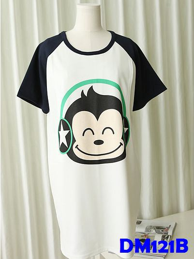 (DM121B) Maternity Shirt - Monkey Blue