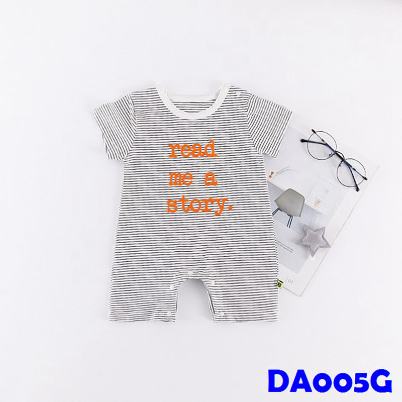 (DA005G) Baby Rompers - Read a Story (White)