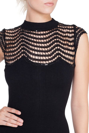Embellished Knitted Body-Con Dress