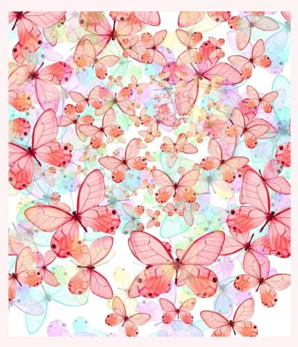 Pink 100 Butterflies Photography Work Art Painting Decorative Canvas Wall Poster