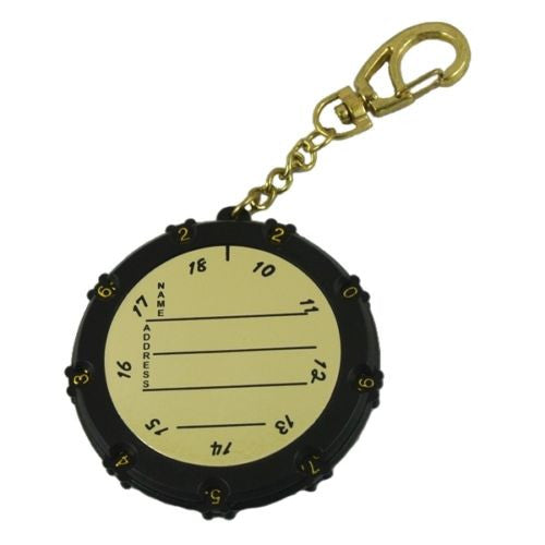 Golf Stroke 18 Hole Score Shot Counter Keeper Scoring Bag Tag Keychain Clip