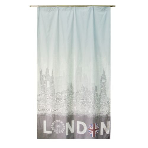 "1Pc 51""x93"" Vintage Cotton Big Ben London Decorative Curtain Window Drapes"
