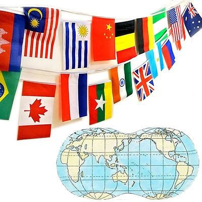 "Nw 100pcs 8""x12"" World Flag Combo National Country Olympic Sports Games Football"