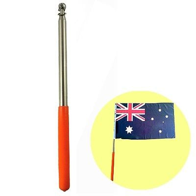 "63""  Stainless Steel Telescoping Flagpole For Banner Flag Collapsable Poles"