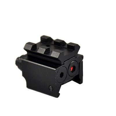 Black 532Nm Mini Red Laser Sight Optics Aiming Tactical Precision Mount 20mm