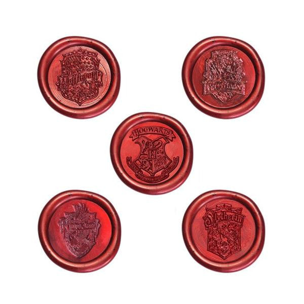 Harry Potter Hogwarts School Ministry of Magic & 4 Houses Wax Sealing Stamp Kit