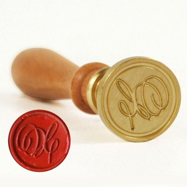 Vintage Slim Tight Script Initial X Wax Sealing Stamp