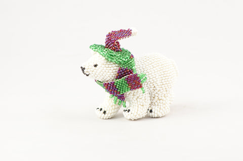 Beaded Polar Bear - Turquoise Village